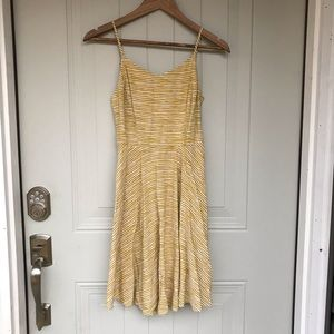 Old navy yellow striped sundress